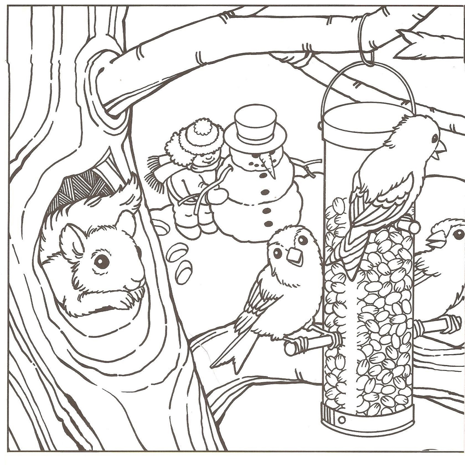 Winter Coloring Pages | Learning Printable