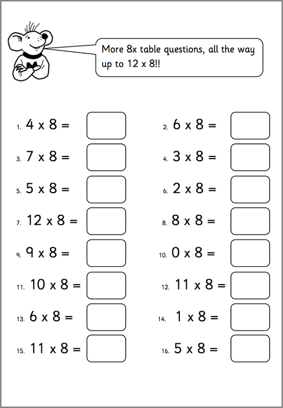 Worksheets for 6 Year Olds to Print Free
