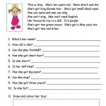 Worksheets for Esl Students Reading
