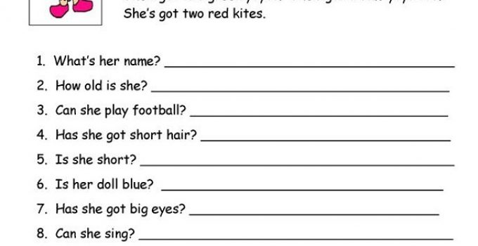 Worksheets For Esl Students Learning Printable