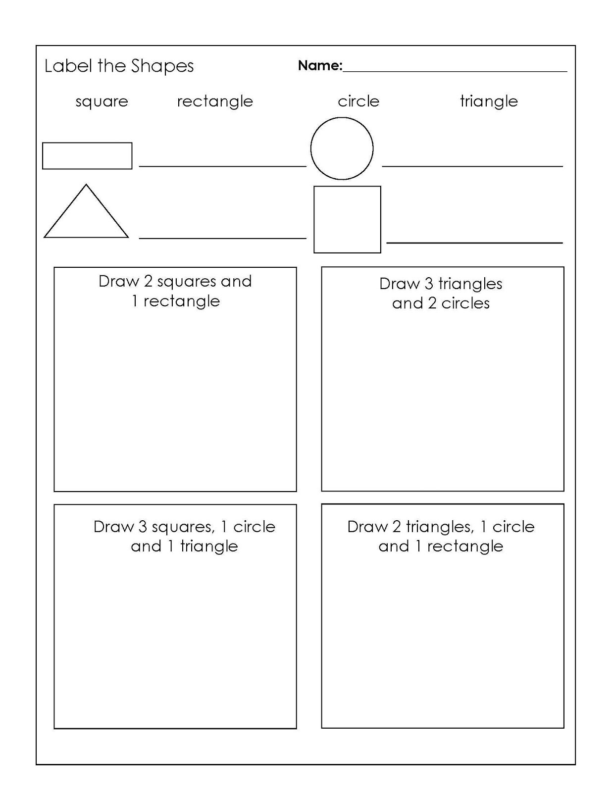 Year 1 Maths Worksheets Shape