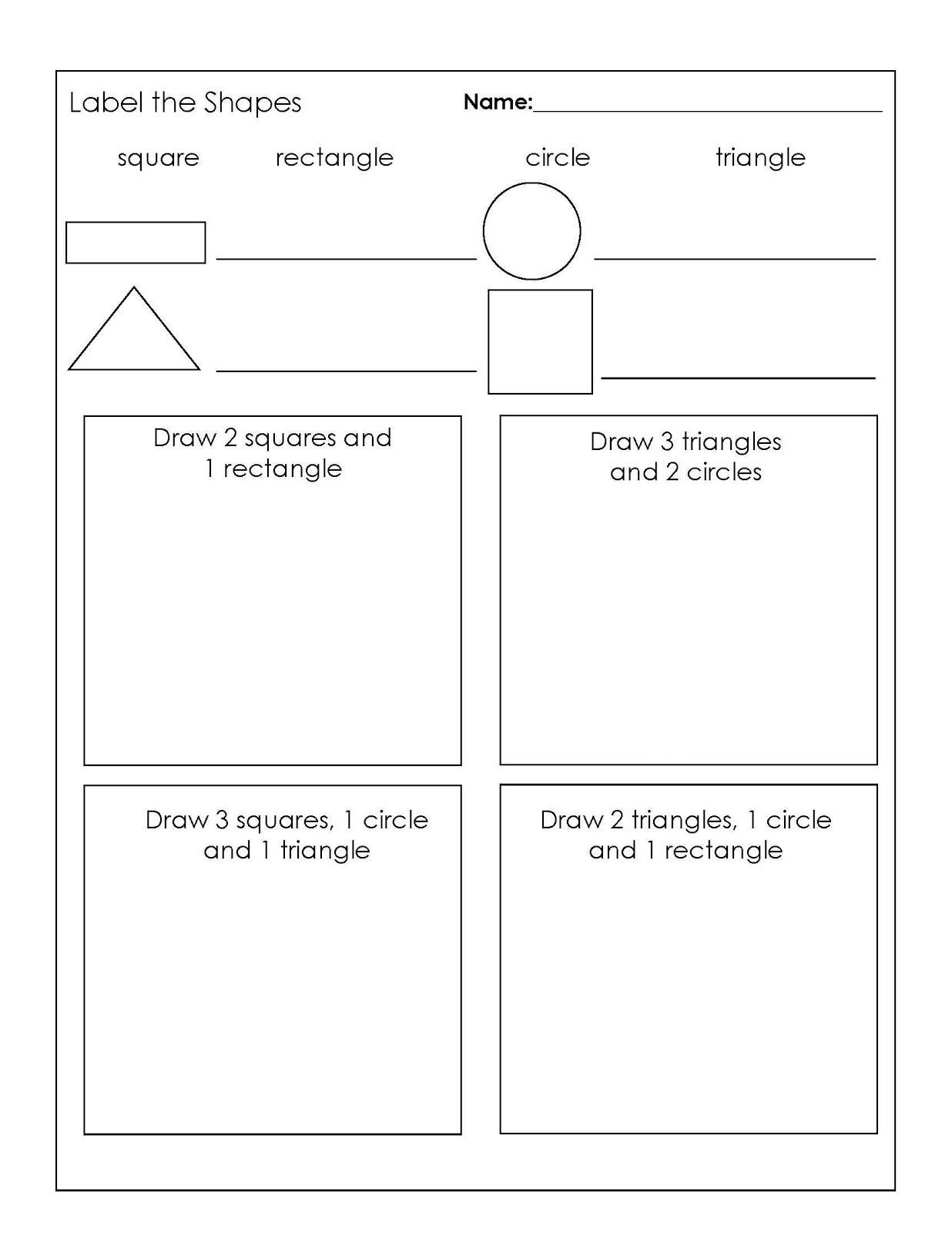 Year 1 Maths Worksheets Shape