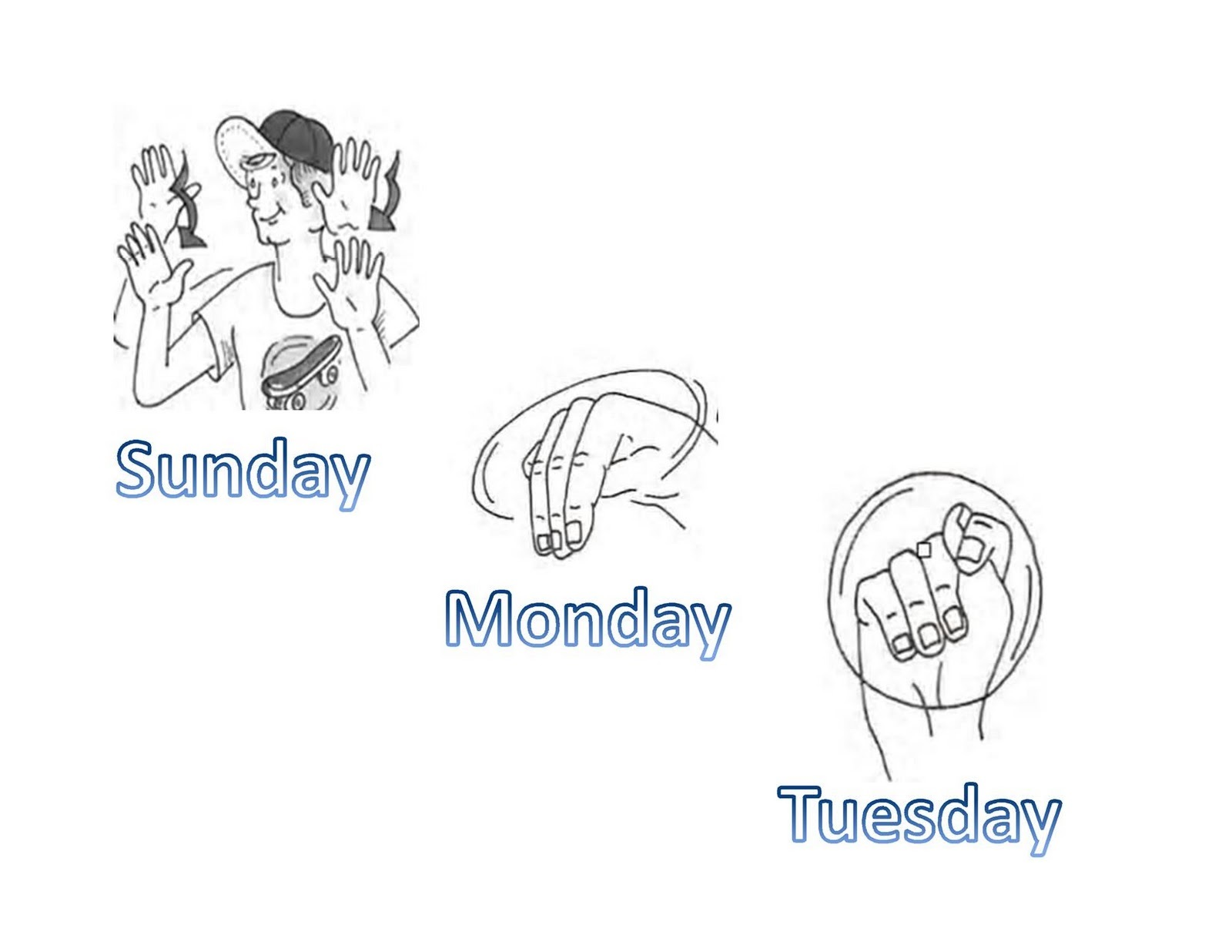 day in asl pictures page