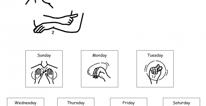 graphic about Asl Printable titled Working day inside of ASL Pics Finding out Printable