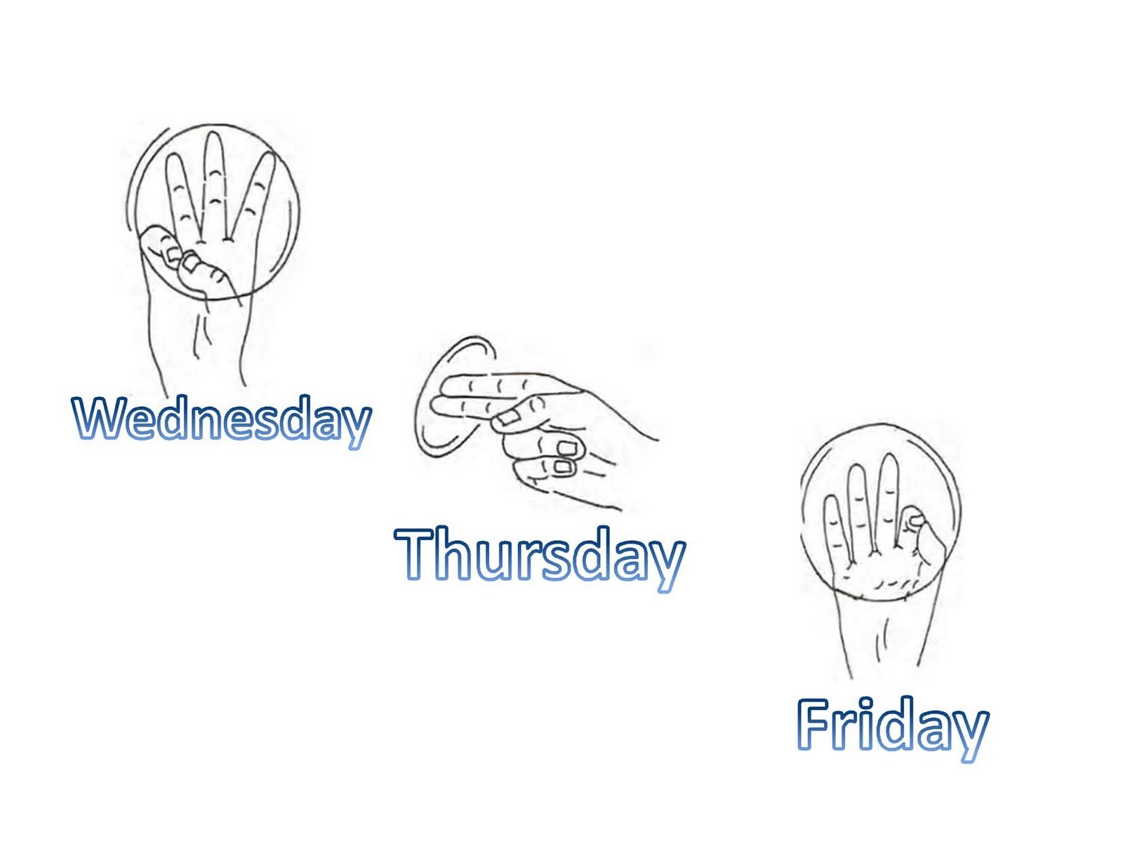 day in asl pictures symbol