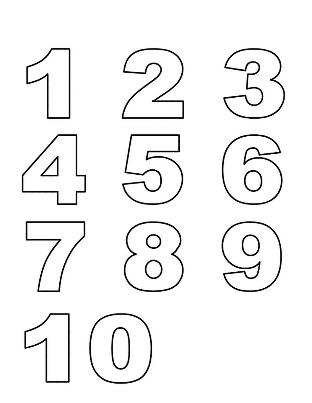 Free Numbers 1-10 to Print | Learning Printable