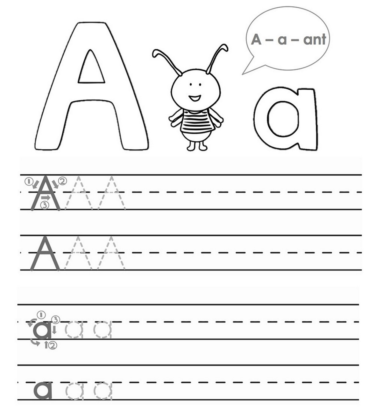 tracing a b c for kids – Learning Printable