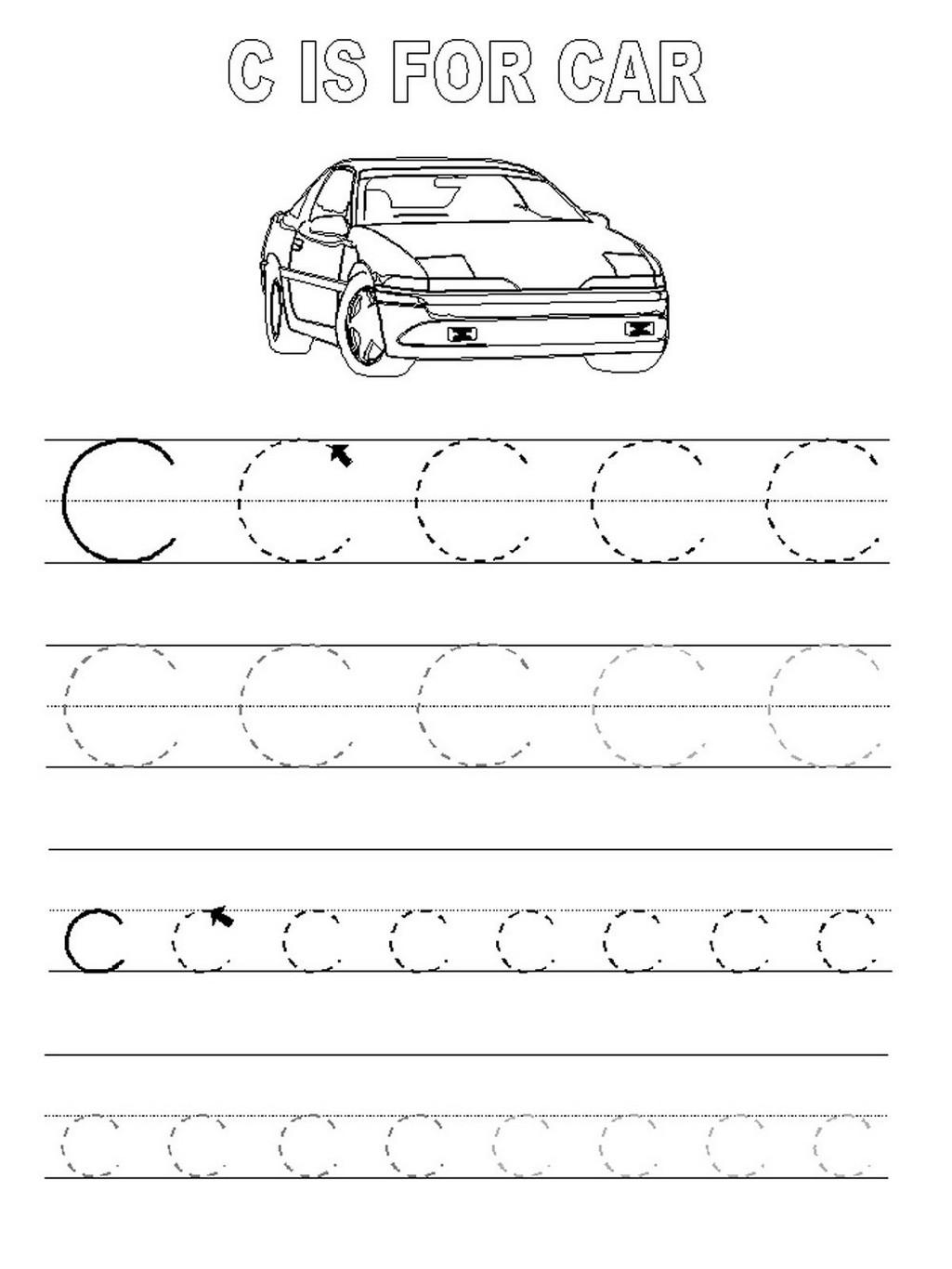 tracing a b c printable