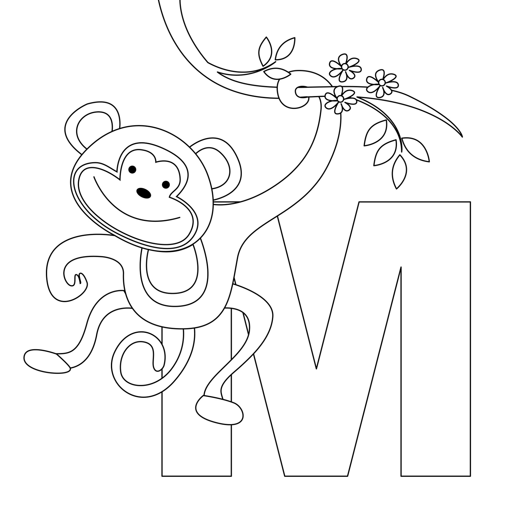 Alphabet Coloring Pages Toddlers