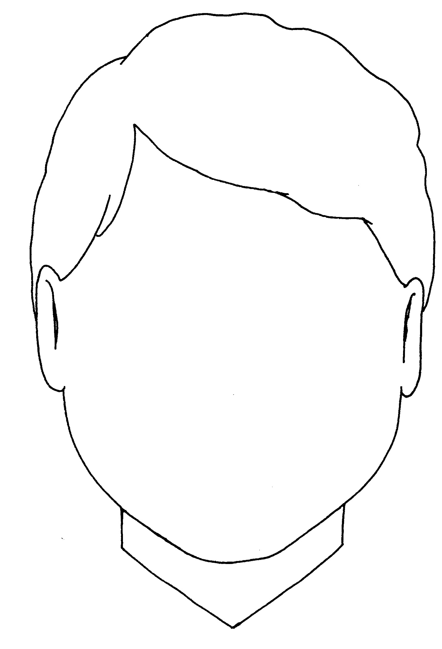 Blank Coloring Pages for Boys