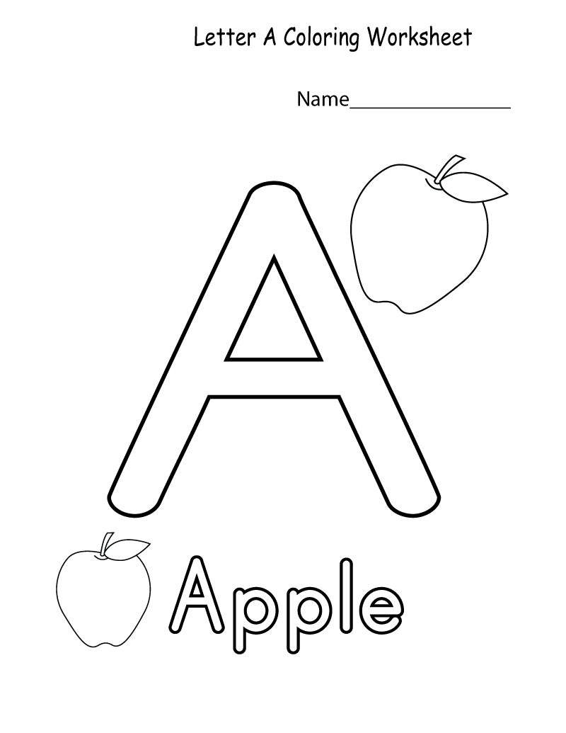 Coloring Worksheets for Kindergarten Alphabet