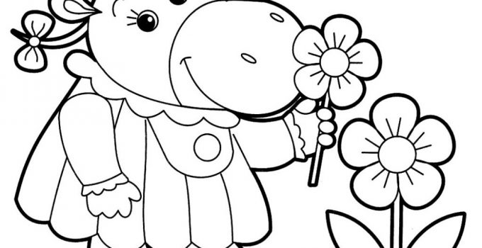 Colour Pictures for Toddlers Flower