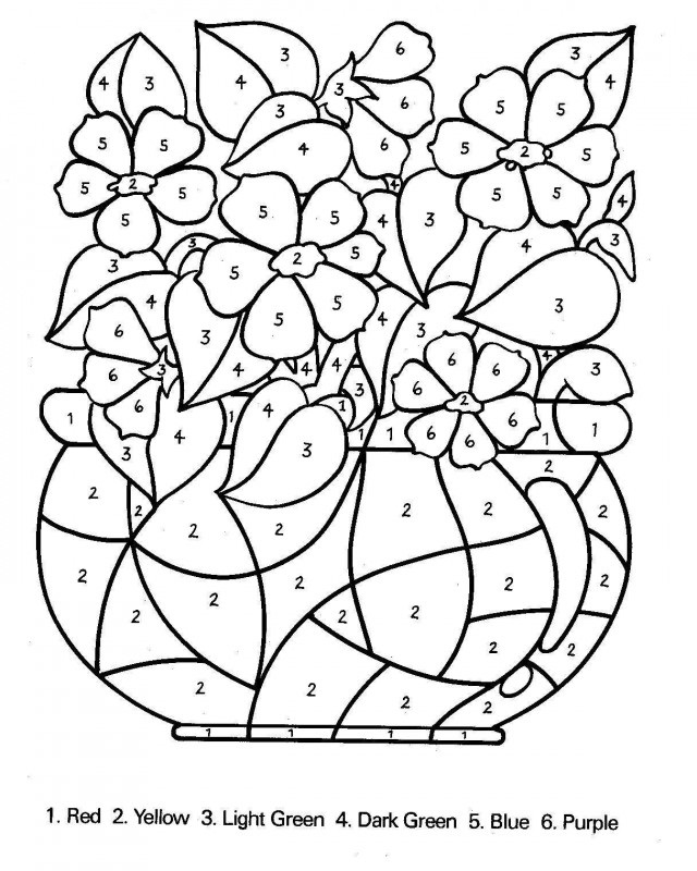 Colouring Worksheets Printables Number