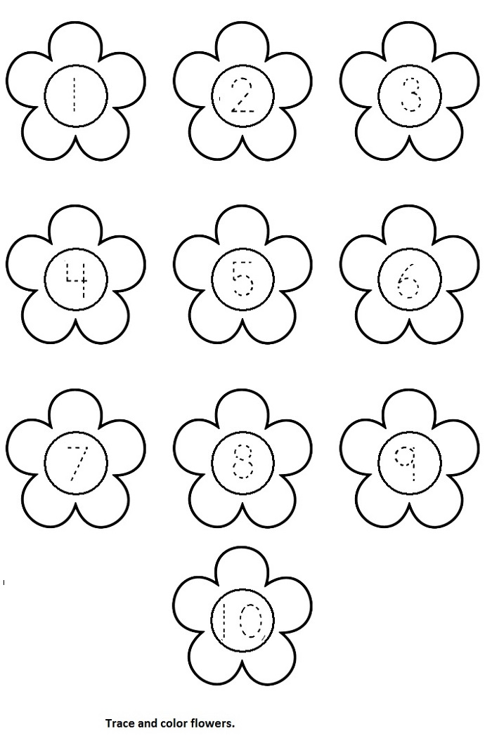 Esl Worksheets For Kids Flower Learning Printable