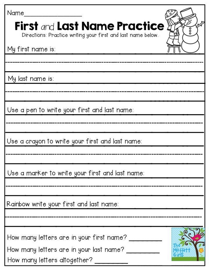 First Grade Writing Worksheets Practice