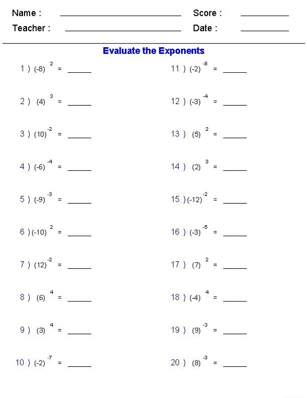 Fun Math Worksheets for Middle School Practice