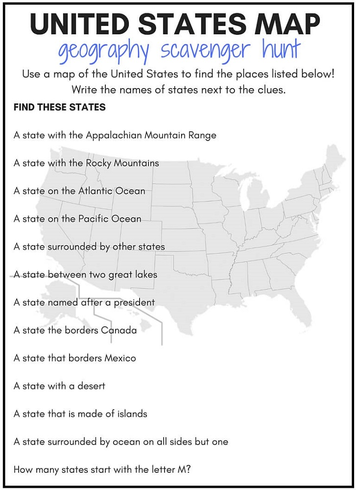 Geography Worksheets for Adult
