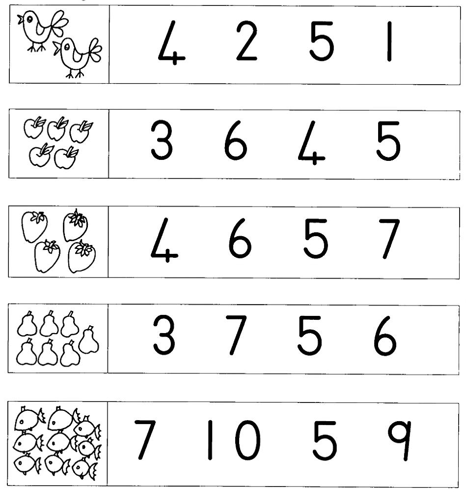 Grade R Worksheets Number