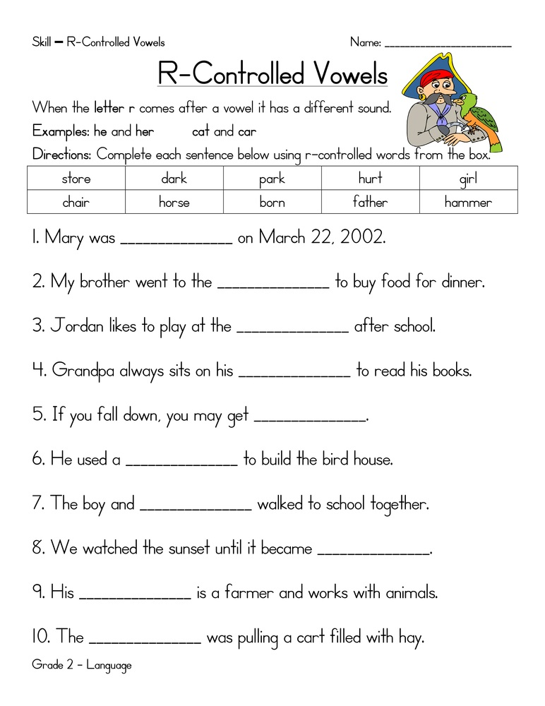 Grade R Worksheets Vowels