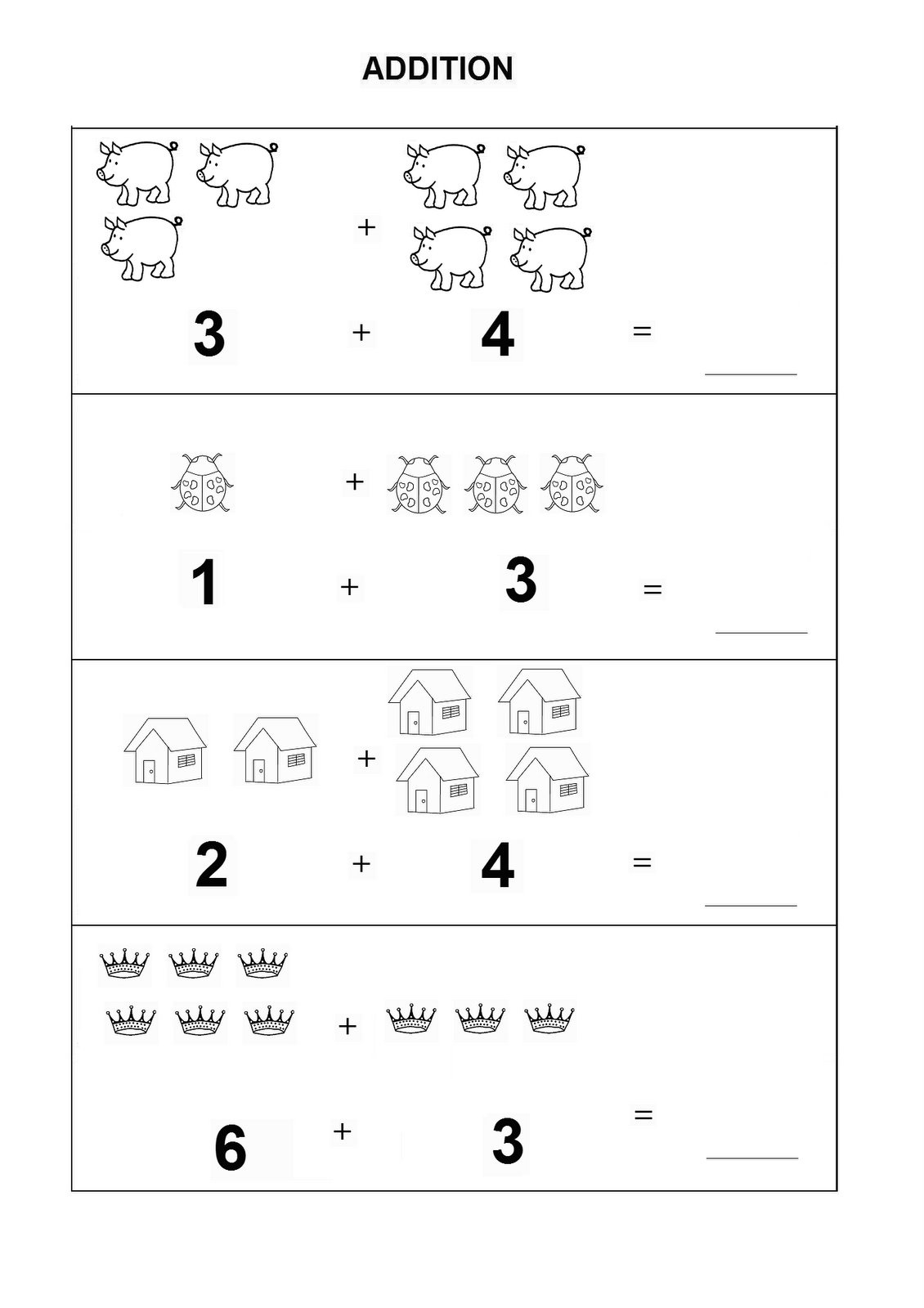 Kindergarten Math Worksheets Pdf Addition