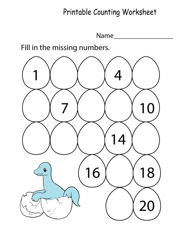Kindergarten Math Worksheets Pdf Counting