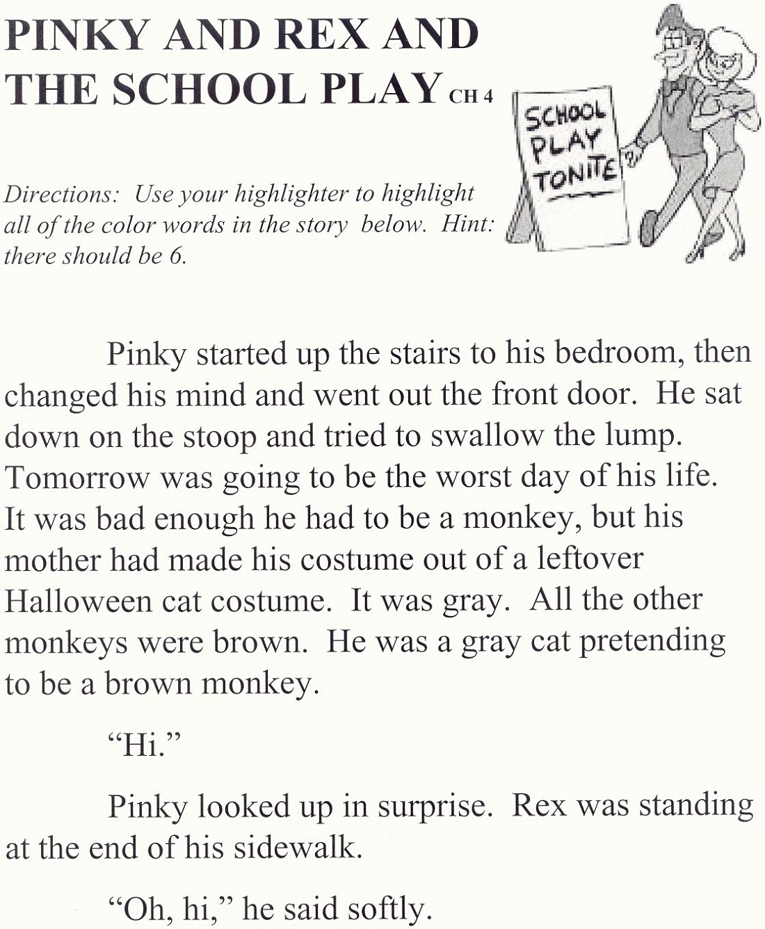 Play School Worksheets ch4