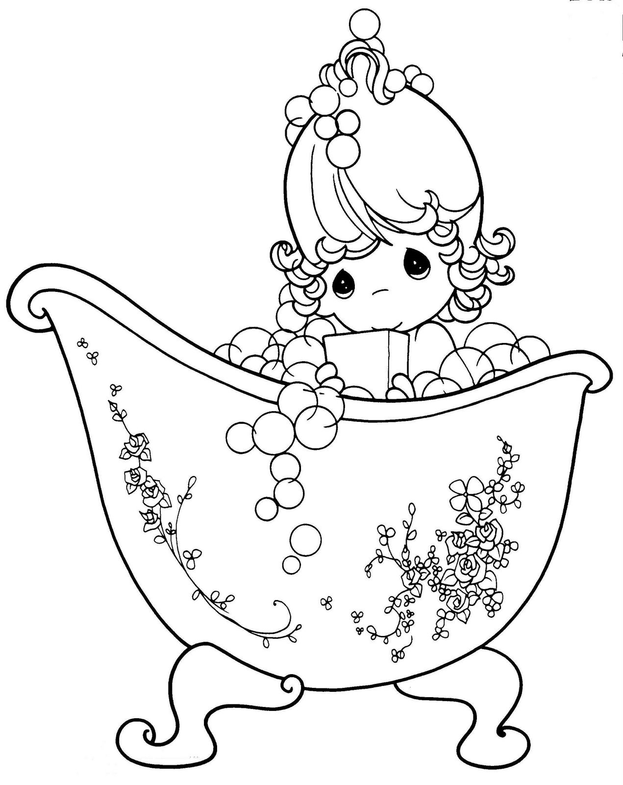 Precious Moments Coloring Pages for Girls