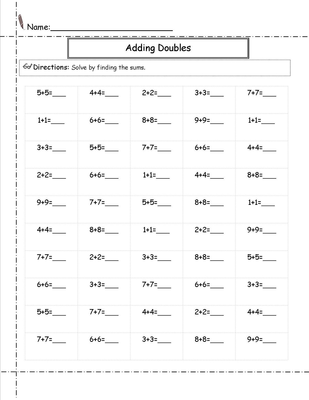 Printable 2nd Grade Math Worksheets Free