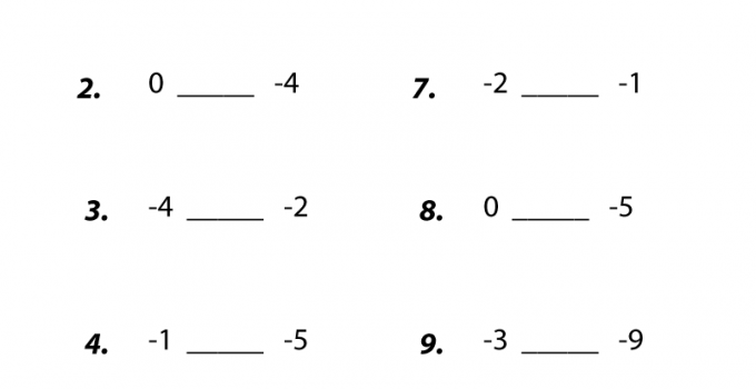 Seventh Grade Math Worksheets Comparing