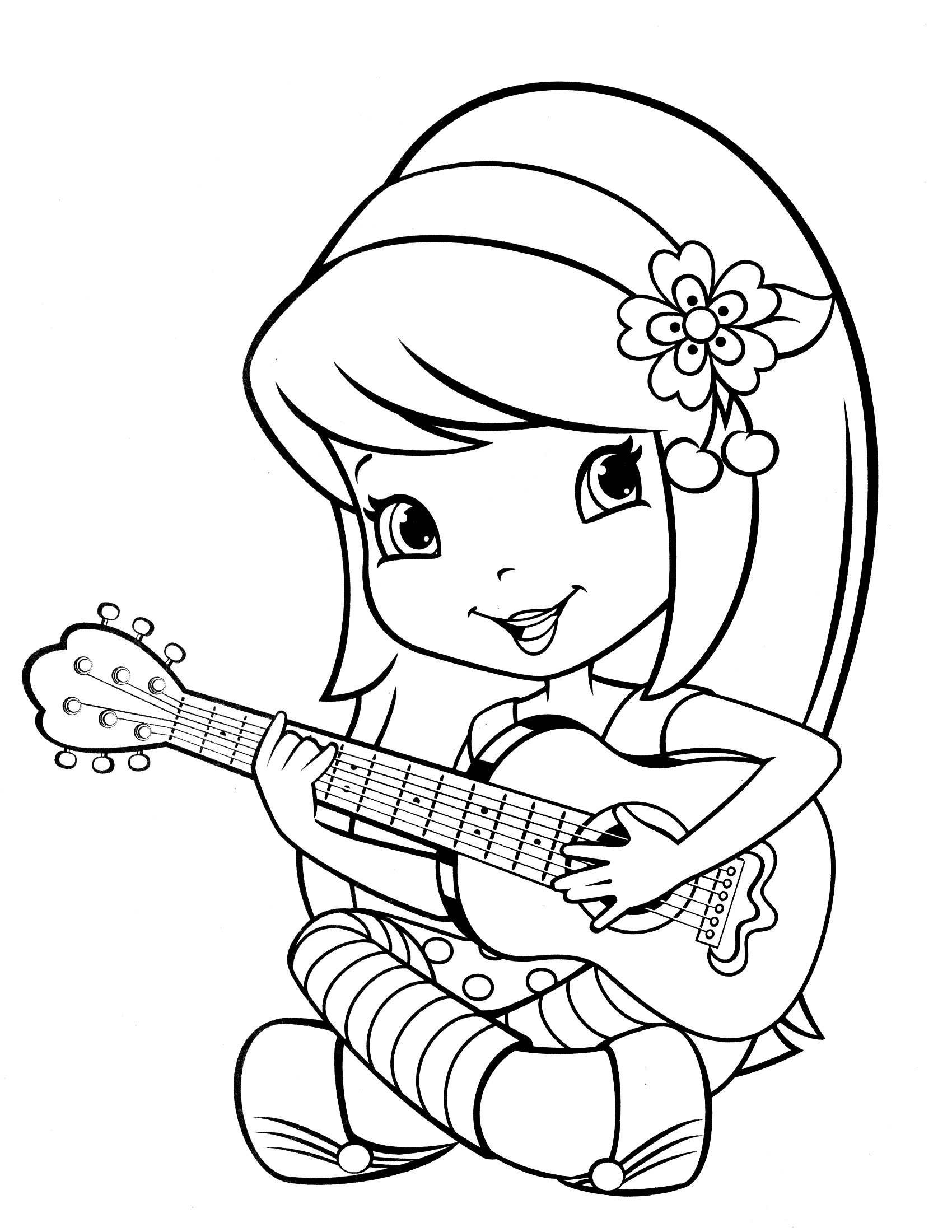 Strawberry Shortcake Coloring Pages for Preschoolers
