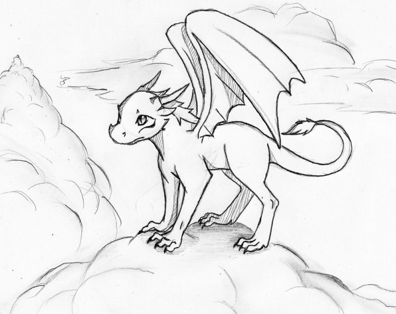 Animation Dragon Coloring Pages