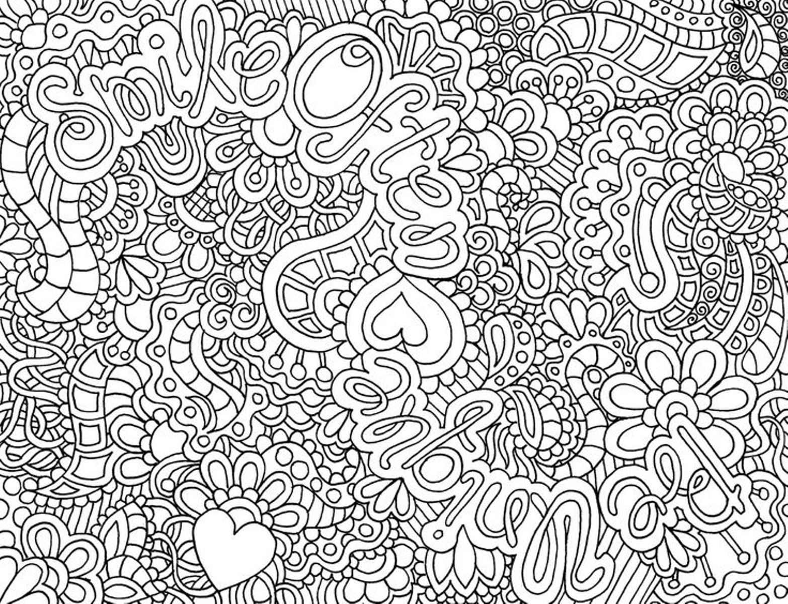 Difficult Coloring Pages for Teens