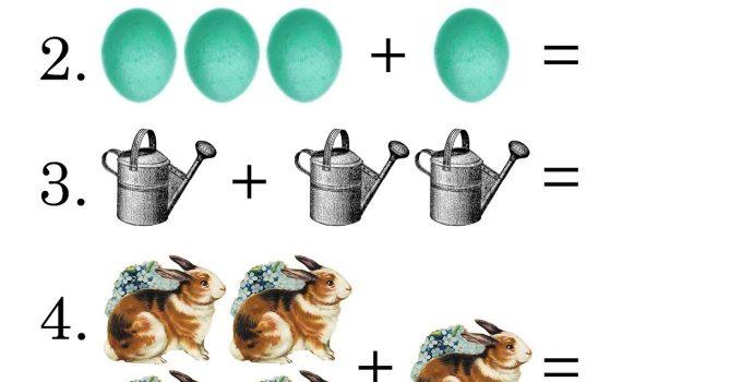 Easy Math Worksheets Spring