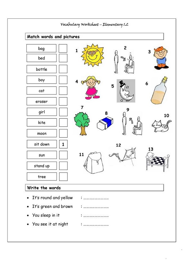 Elementary Worksheets Printable