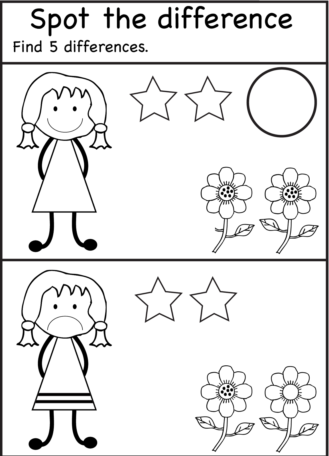 Free Printables for Toddlers Difference