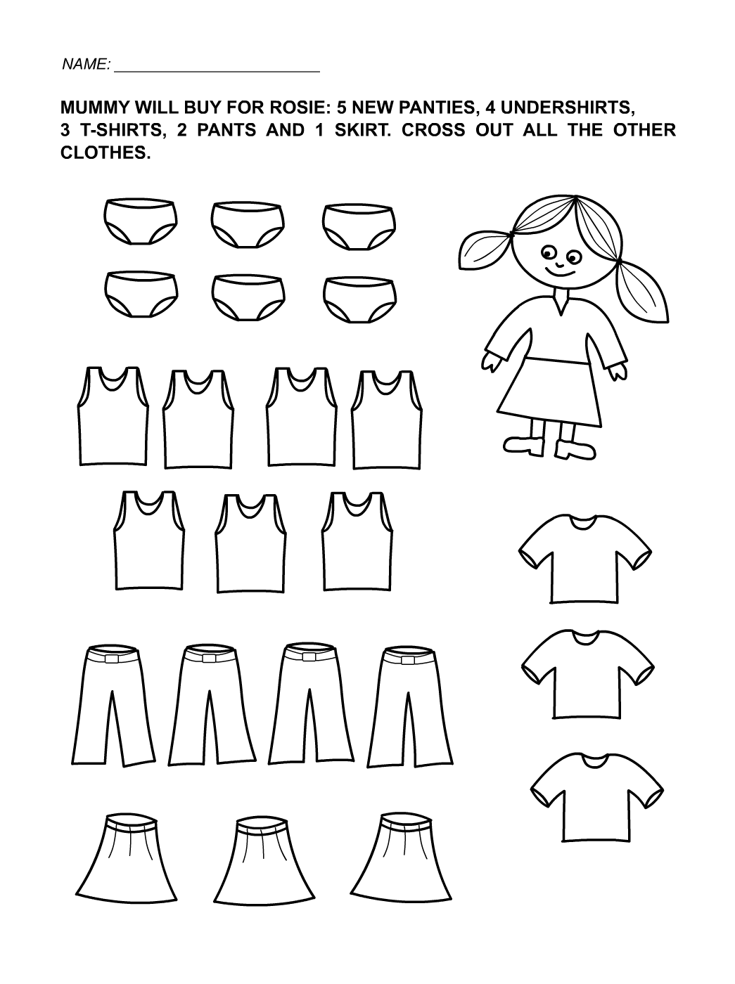 Free Printables for Toddlers Girls
