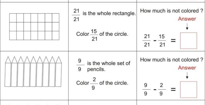 Fun Math Worksheets Fraction