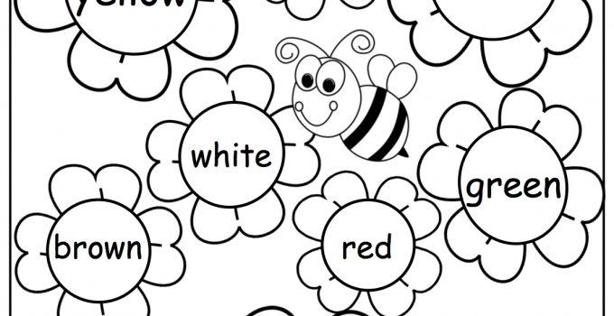 Kindergarten English Worksheets Colour