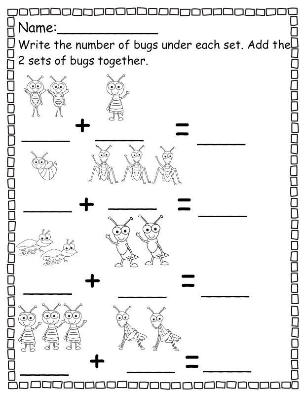 Pre K Math Worksheets Addition