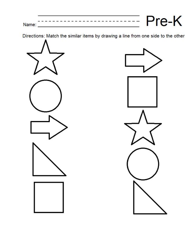 Pre K Math Worksheets Shape – Learning Printable