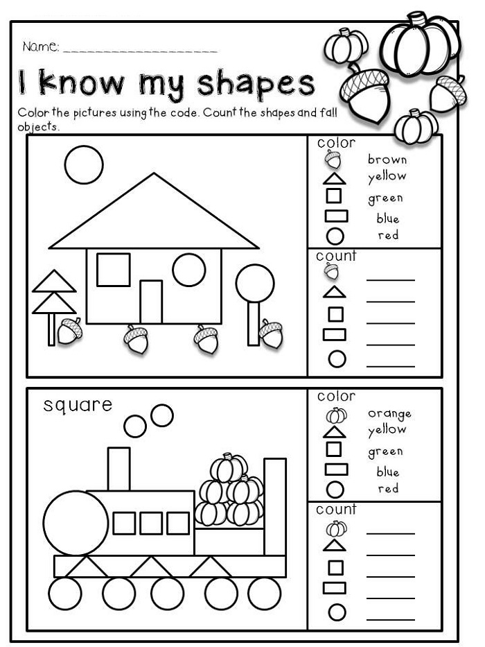 Preschool Activity Sheets Coloring