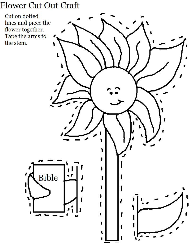 Printable Crafts for Kids Flower