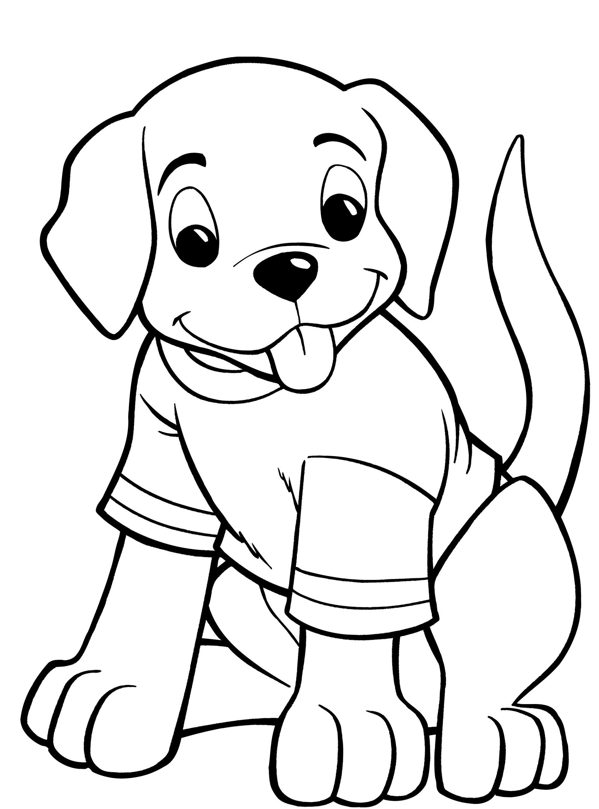 Drawing Sheets for Colouring Dog