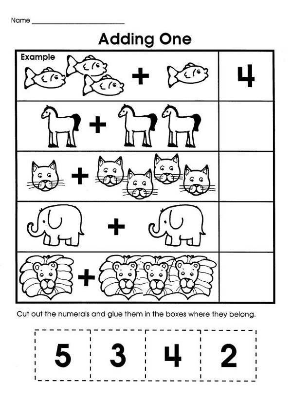 Easy Math Problems for Kids – Learning Printable
