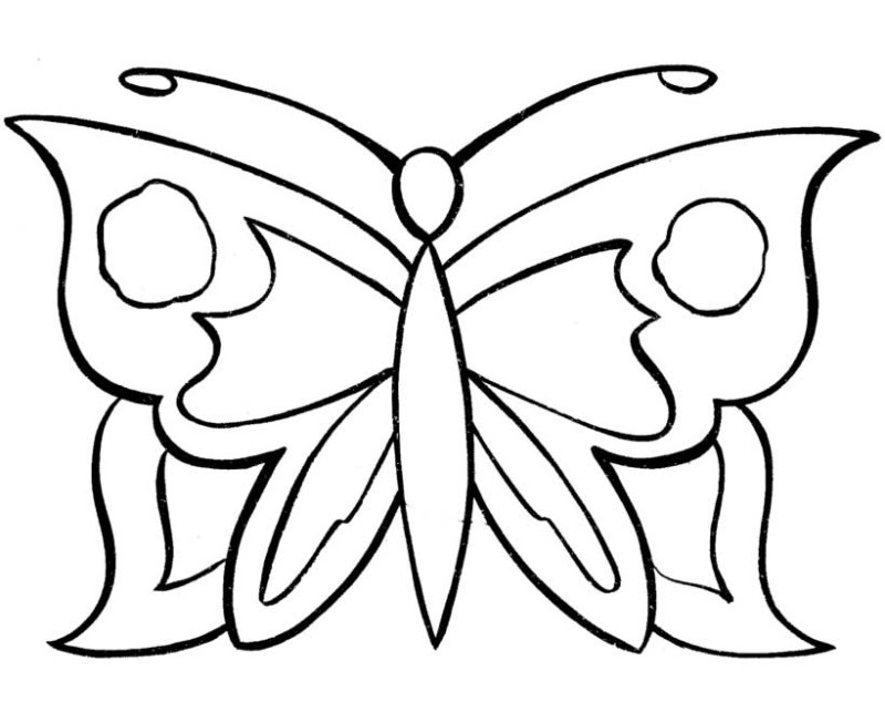 Easy Printable Coloring Pages Butterfly