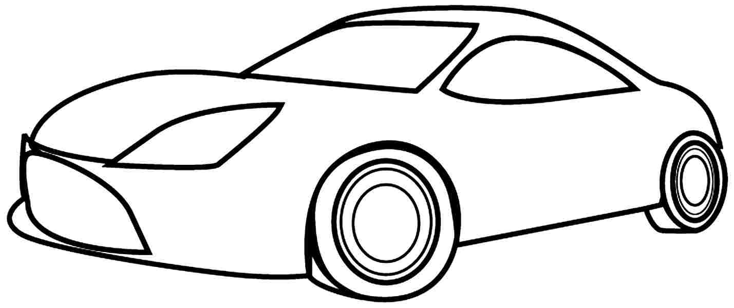 Easy Printable Coloring Pages Car