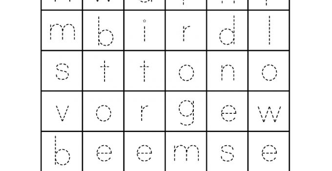 English for Kindergarten Free Worksheet Spring