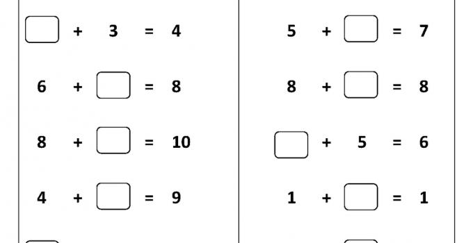 First Grade Worksheets Number