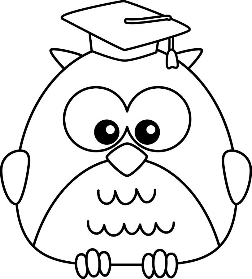 Free Coloring Sheets for Preschoolers Owl