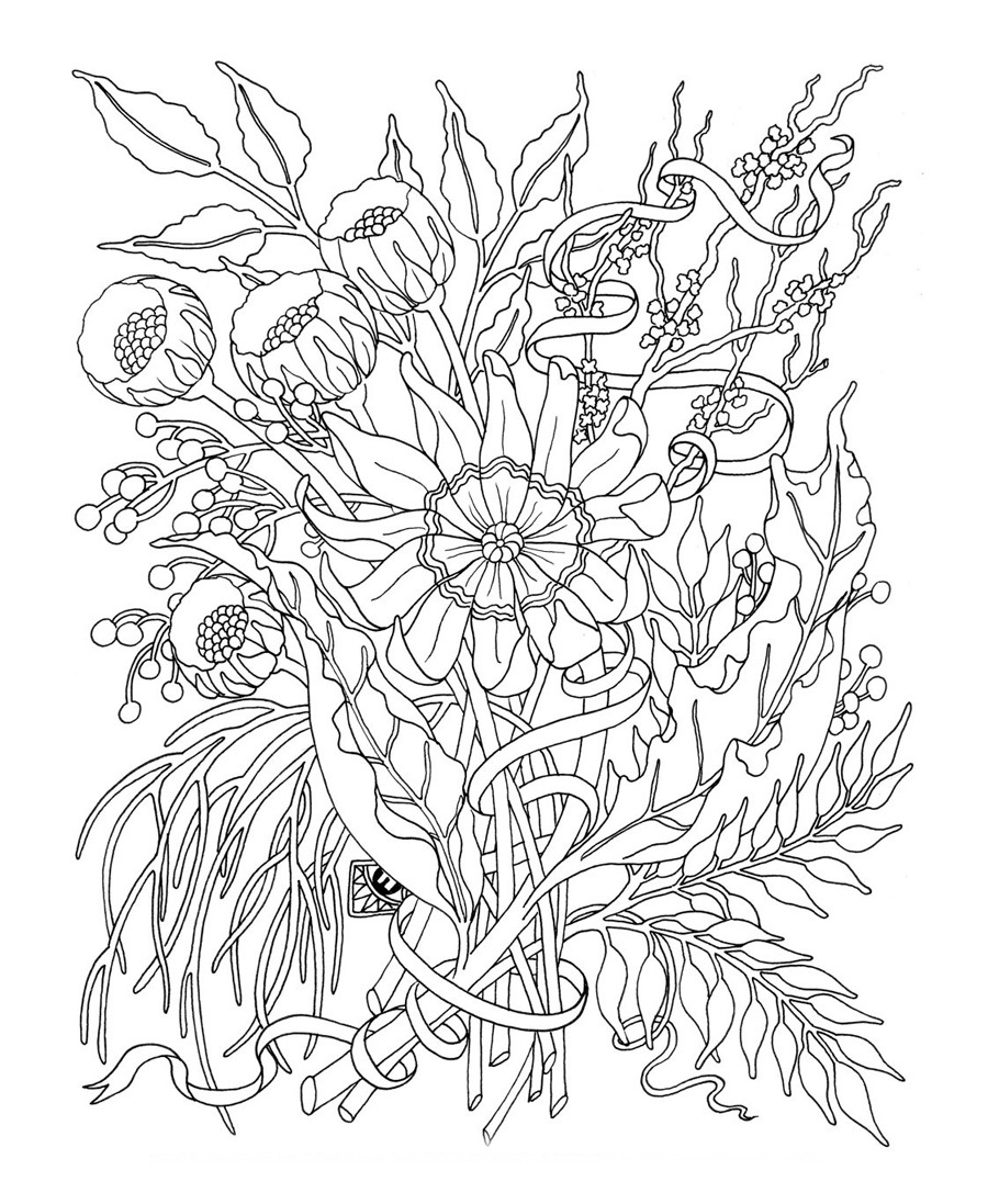 Free Printable Coloring Pages for Adults Flower